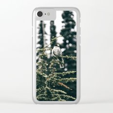 Grey Jay in The Trees Clear iPhone Case