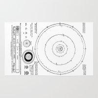 solar system Area & Throw Rugs featuring Solar System by Public Demesne