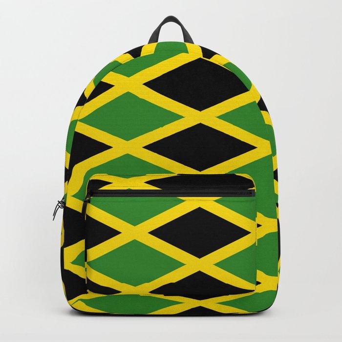 ae99f1b49ef1 Flag of Jamaica 3-Jamaican,Bob  Marley,Reggae,rastafari,cannabis,ganja,america,south america,ragga Backpack  by oldking