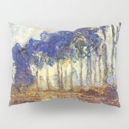 Poplars on the Bank of the Epte River by Claude Monet Pillow Sham