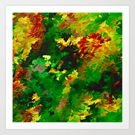 Emerald Forms Abstract Art Print