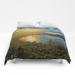 Columbia River Gorge, Sunset Comforters