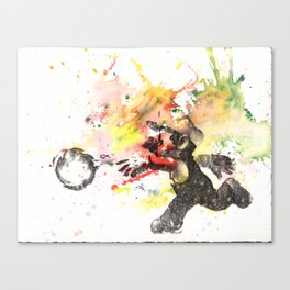 Mario Throwing Fireball Canvas Print