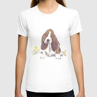 the hound T-shirts featuring Basset Hound by jo clark