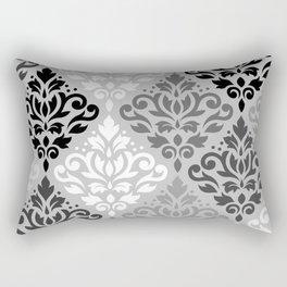 Scroll Damask Ptn Art BW & Grays Rectangular Pillow