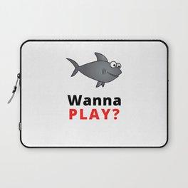 Funny Swimming Spell With Shark For Children Laptop Sleeve