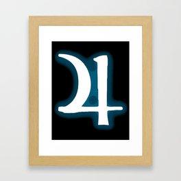Jupiter Jonze (halftone sigil) Framed Art Print