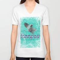 bonjour V-neck T-shirts featuring Bonjour by cvrcak