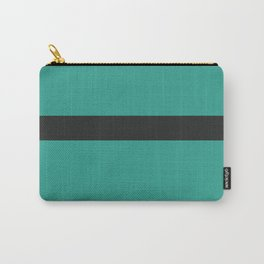 A smart adaptation of Sand Brown, Dark, Sea and Sea stripes. Carry-All Pouch