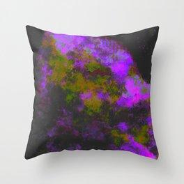 """Cellular Migration"" (Yellow/Purple) Digital Painting // Fine Art Print Throw Pillow"