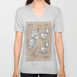 patent art Fields Toilet seat lifter 1967 Unisex V-Neck