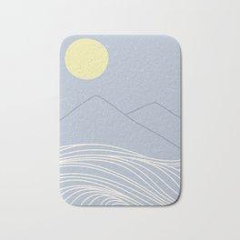 striped ocean art Bath Mat