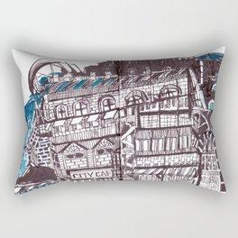 City cafe Rectangular Pillow