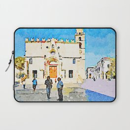 Teramo: men speak in front of the cathedral Laptop Sleeve