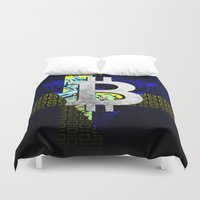 sweden Duvet Covers featuring bitcoin sweden by seb mcnulty