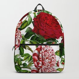 Vintage & Shabby Chic - Red Roses Retro Pattern Backpack