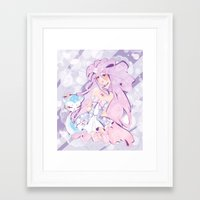 mew Framed Art Prints featuring Lady Mew Mew  by Chocolat