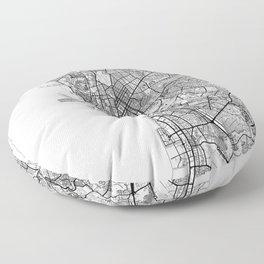 Manila Map White Floor Pillow