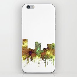 Little Rock, Arkansas Skyline - Safari Buff iPhone Skin