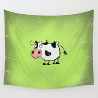cow Wall Tapestries featuring Cow by Mr and Mrs Quirynen
