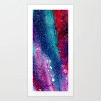 .Glitter Abstract. Art Print