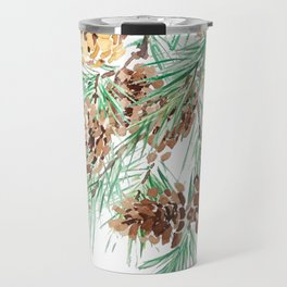 pine cones watercolor Travel Mug
