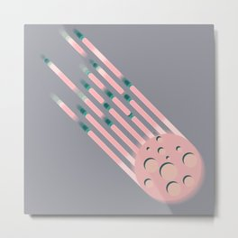 Like...Pink Meteors Metal Print