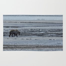 Brown Bear Looking For Clams Rug