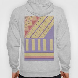 Lilac n Rose Geometry on Buttercream - from the Lilac Buttercup colour palette collection Hoody