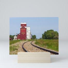 Canadian Prairies Grain Elevator Saskatchewan Mini Art Print