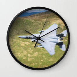 Low Flying F-15E Strike Eagle Wall Clock
