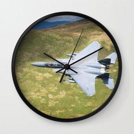 Low Flying F-15E Strike Eagle Wall Clock