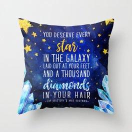 Star and Diamonds Throw Pillow