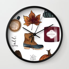 Fall Feelings Wall Clock