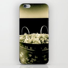 Date Night At The Movies (Black & White) iPhone Skin