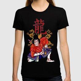 Kabuki Japanese Folk Art Motif T-shirt