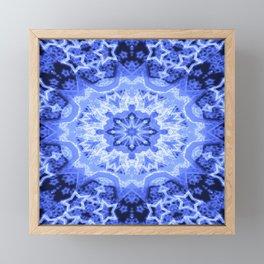 Blue Star Mandala Framed Mini Art Print