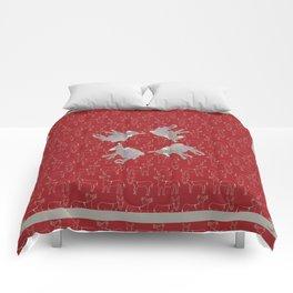 © Litte Burro Wild West Red Comforters