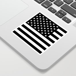 Black And White Stars And Stripes Sticker