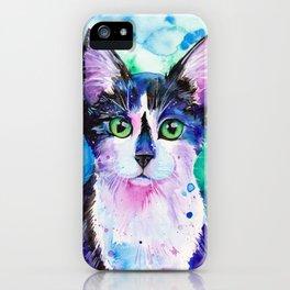 Black and White Tuxedo Cat iPhone Case