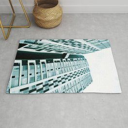 Turquoise Building Rug