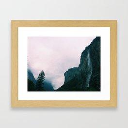 Valley of 72 Waterfalls, Switzerland Framed Art Print