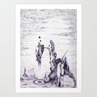 Alien Structure #1 Art Print