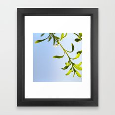 plant and sky Framed Art Print