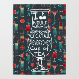 Retro Cocktails Poster