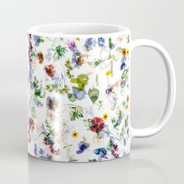 Colorful flowers abstract pattern, flower design Coffee Mug