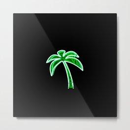 Palm Tree (Neon) Metal Print