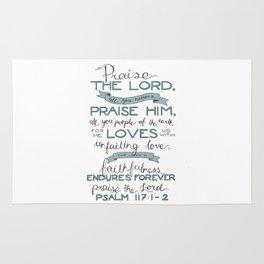 Psalm 117: 1-2 Rug