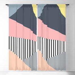 Colorful triangles design Blackout Curtain