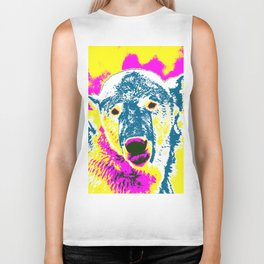 Pop Art Polar Bear 1 Biker Tank